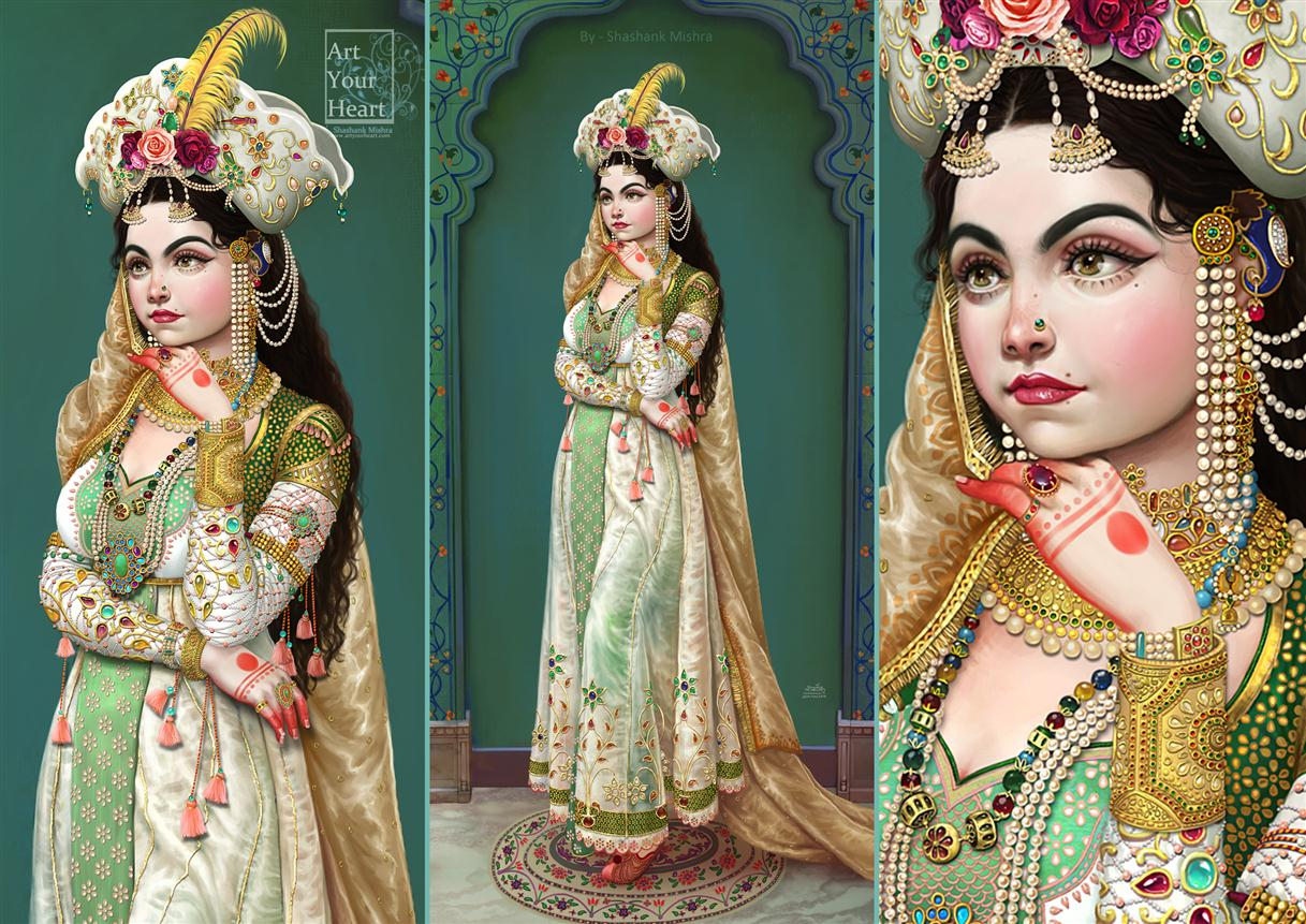 digital painting queen by shashank mishra