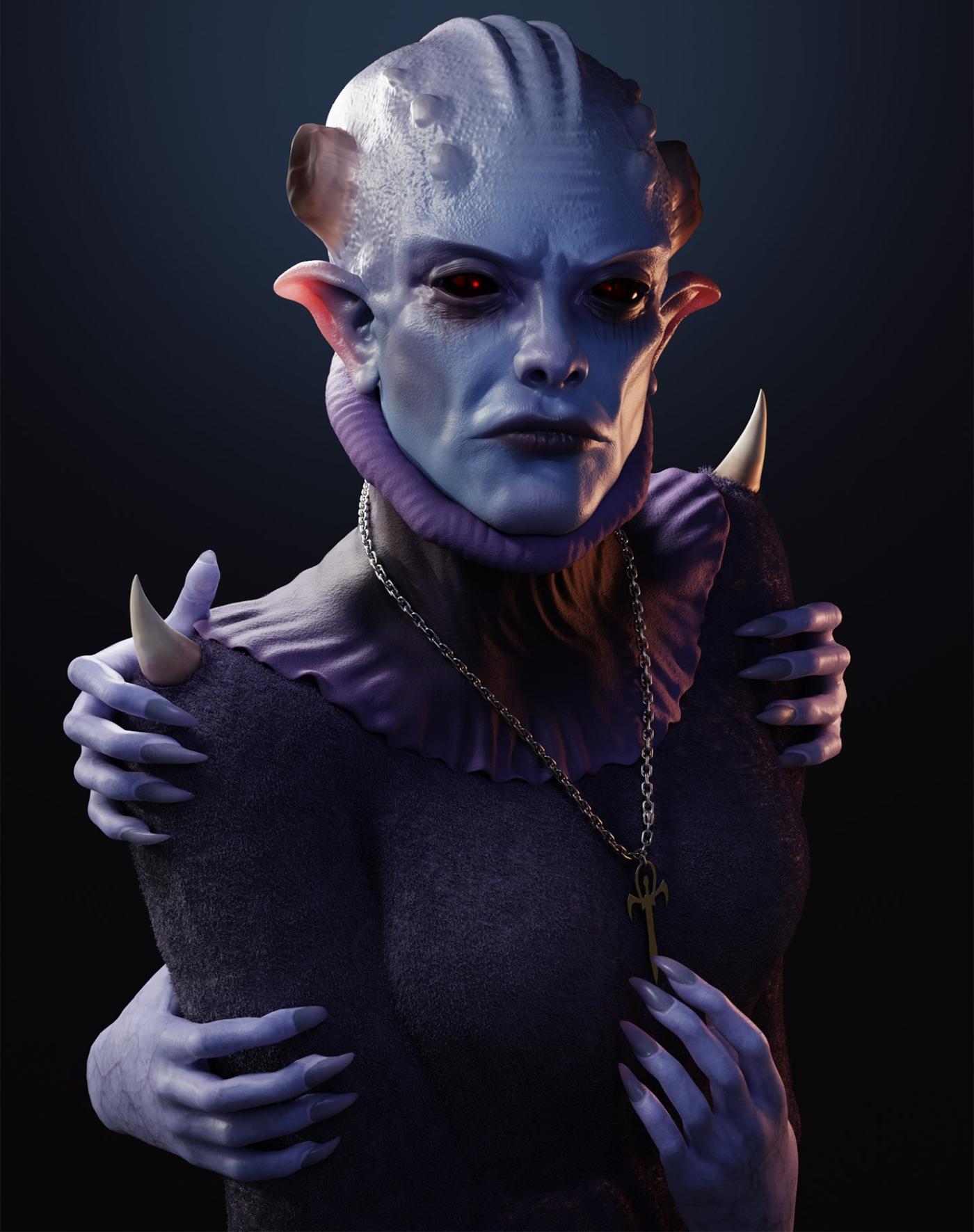 3d model principal blood sorceress by ferhat tanman