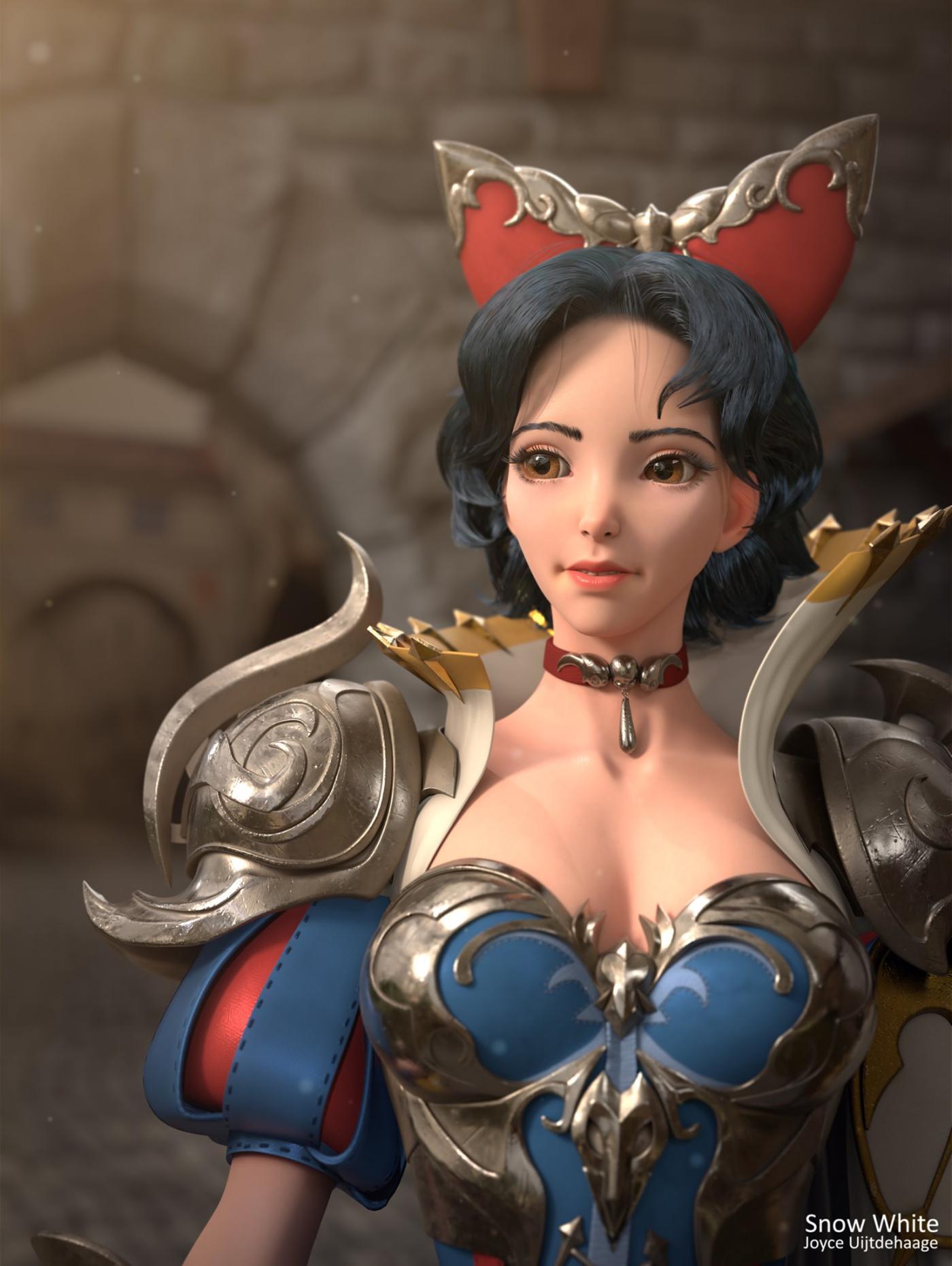 3d model snow white by joyce uijtdehaage