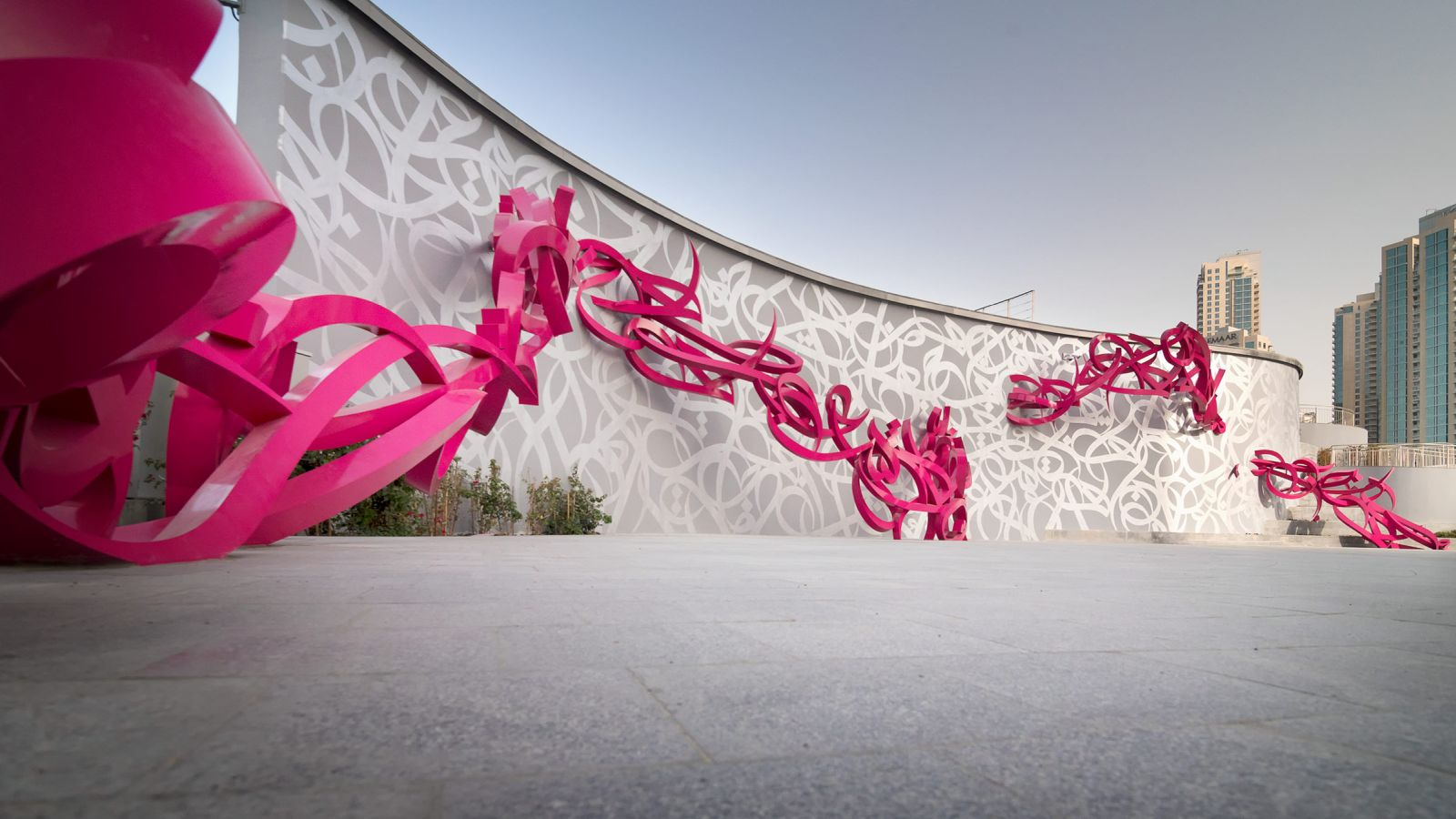 art sculpture declaration by el seed dubai