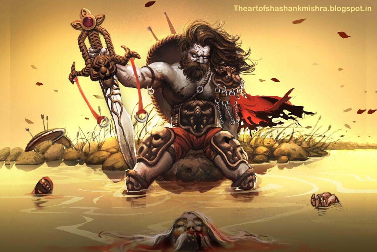digital painting indian mythological character