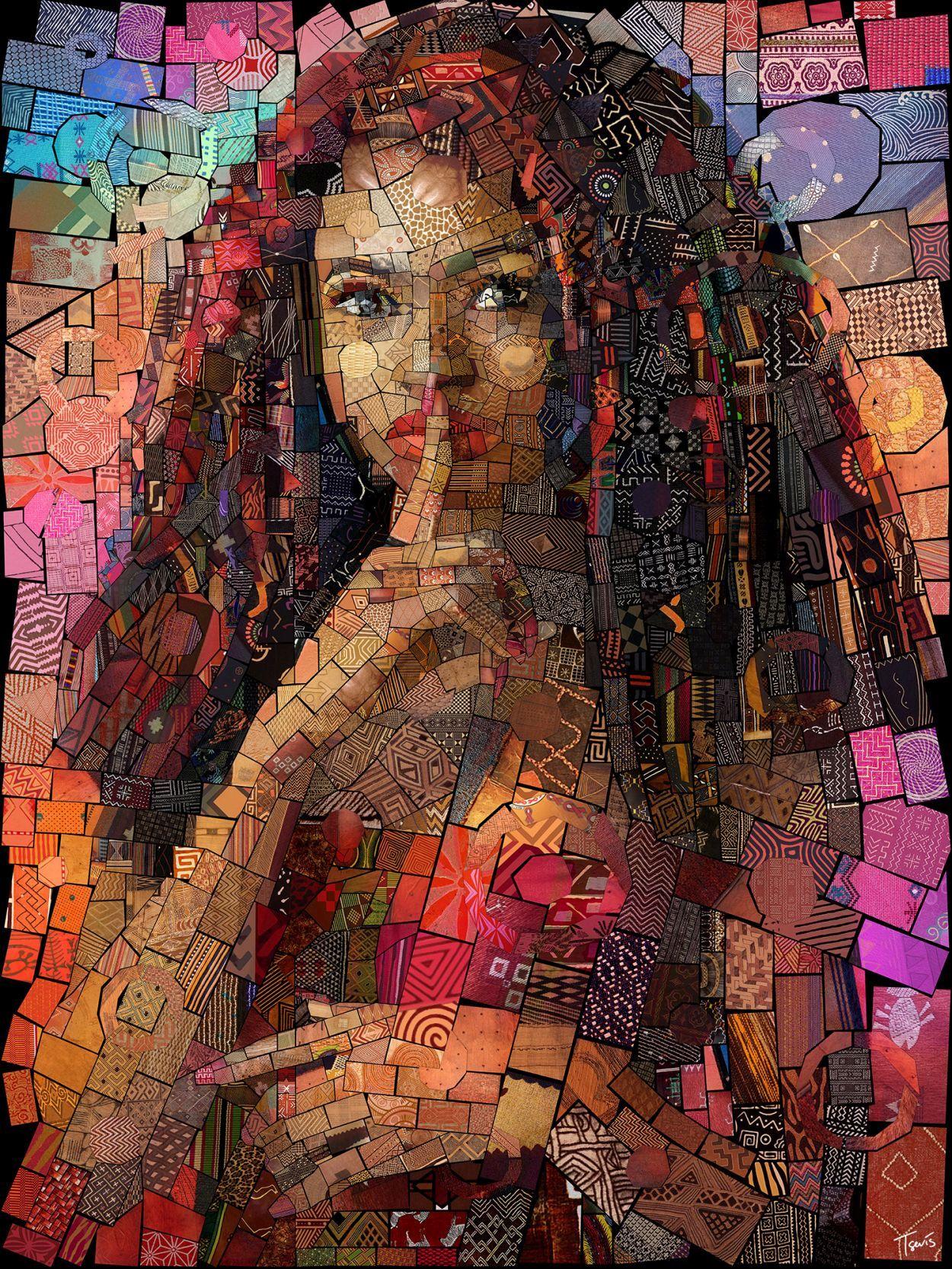 photo manipulation mosaic african series