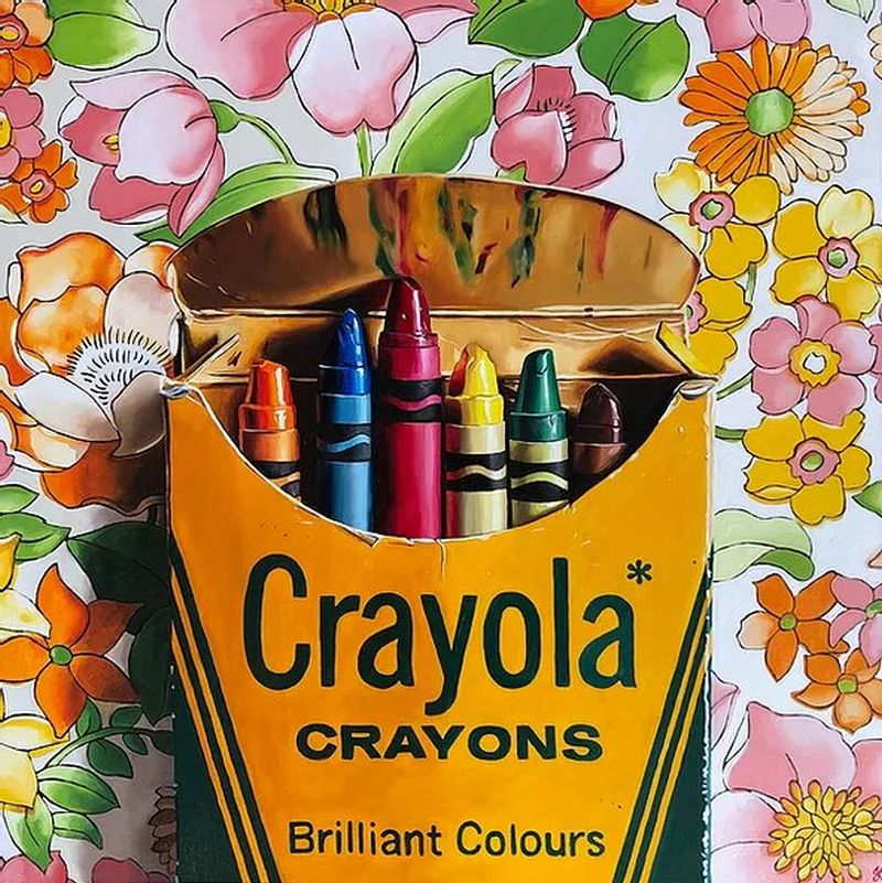 hyper realistic oil painting crayons