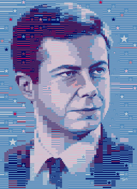 photo mosaic of pete buttigieg
