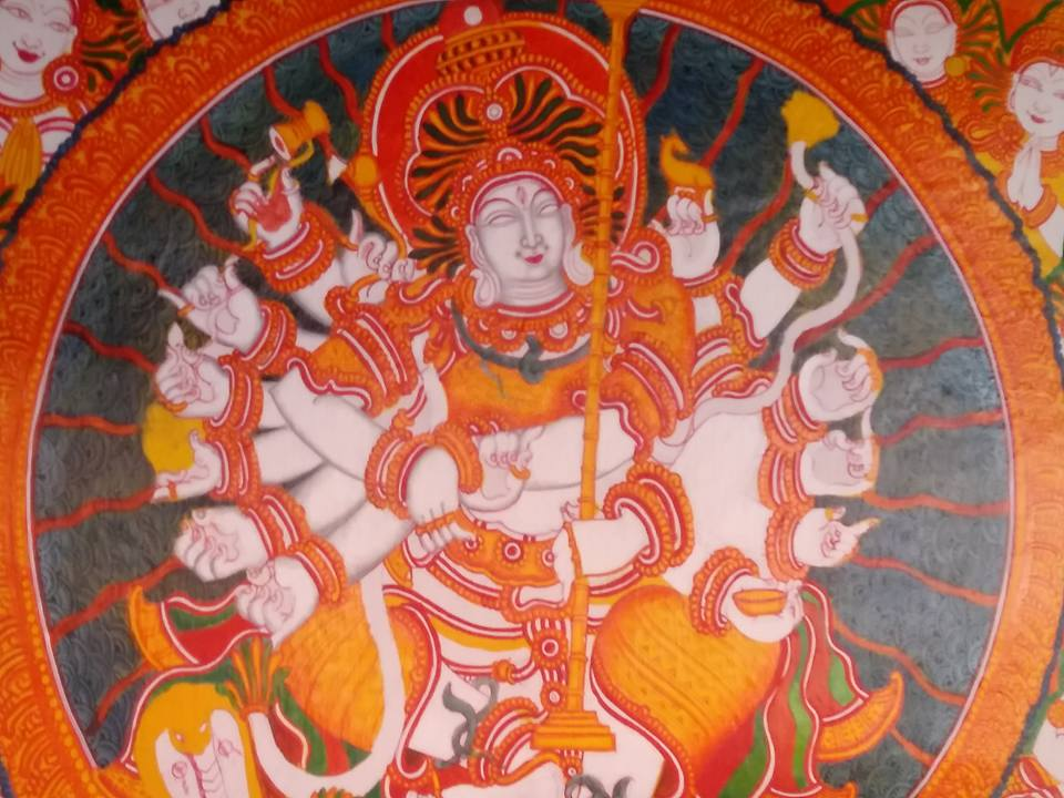 indian folk art mural painting