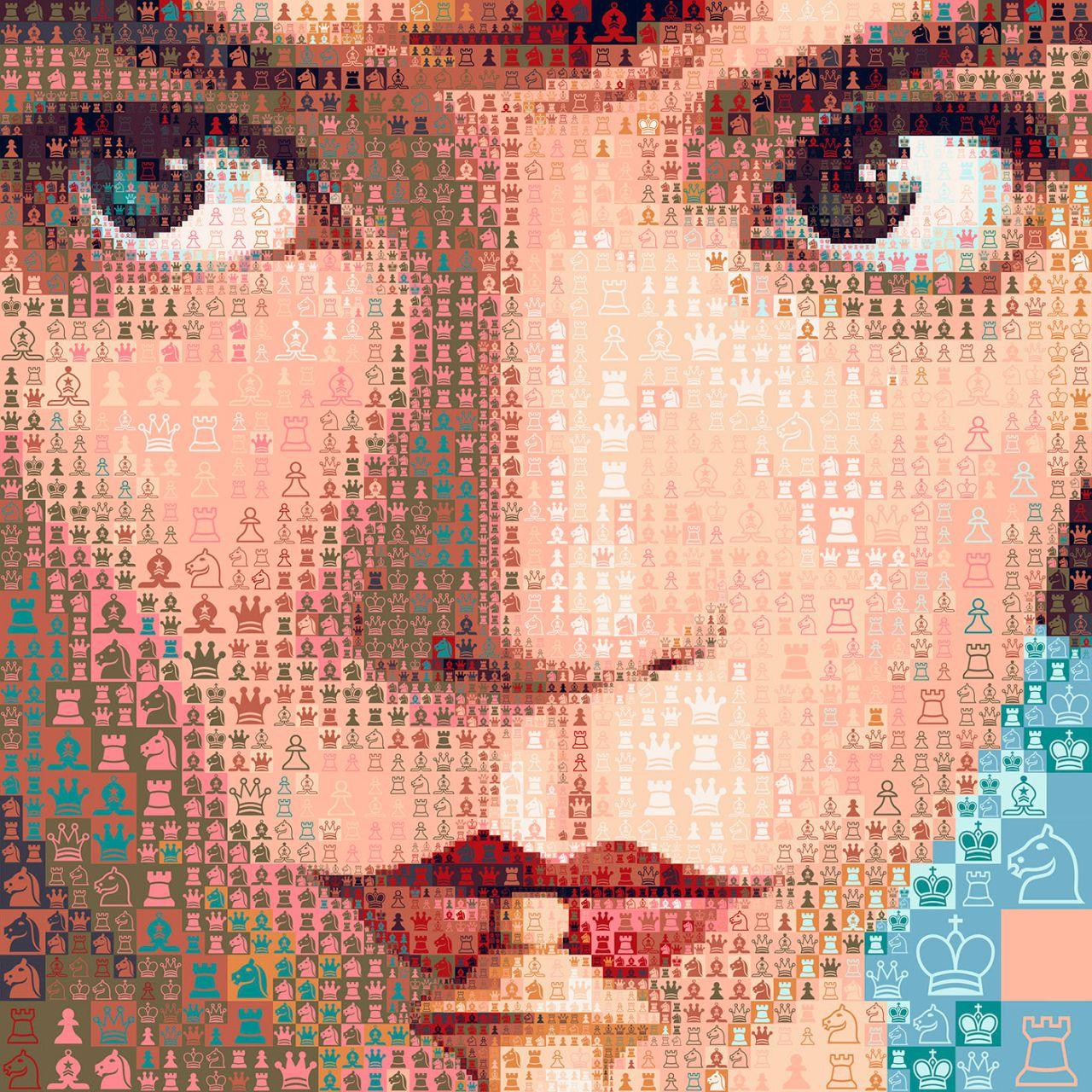 photo mosaic manipulation queen gambit