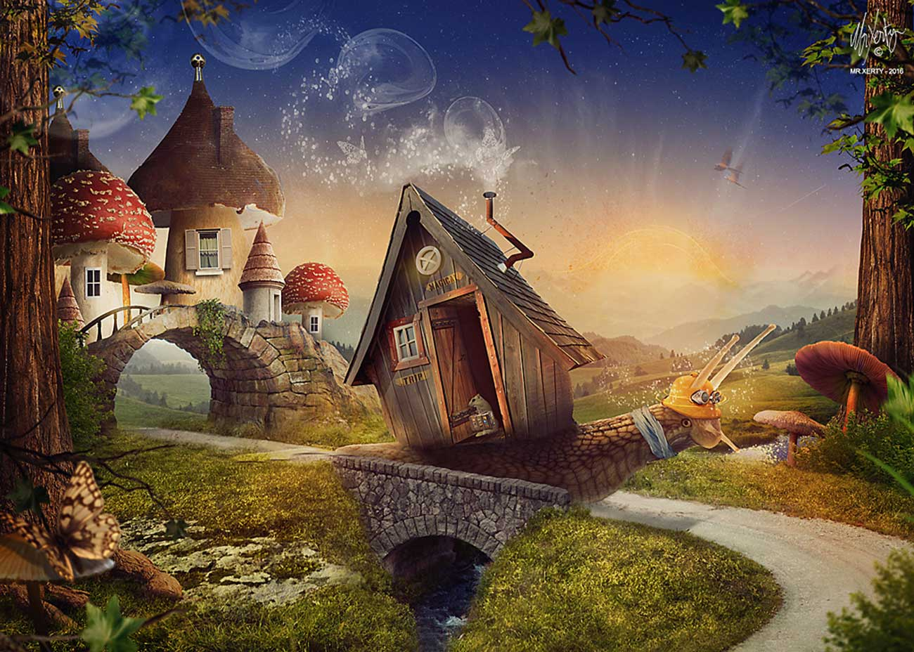 photoshop manipulation the travel in