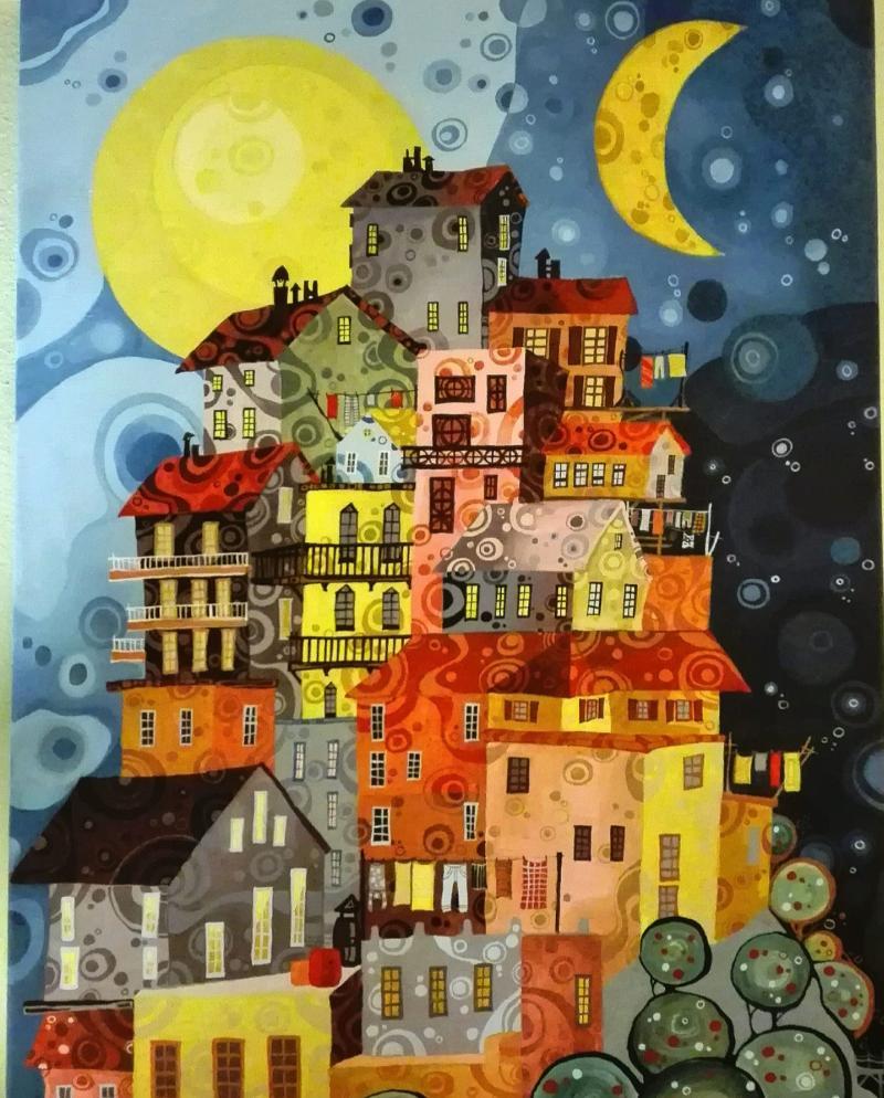 acrylic painting by chrysoula pavlidou