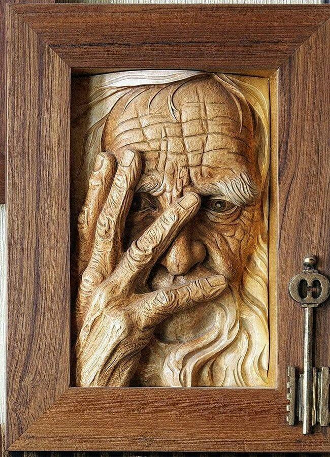 carved wood sculpture byandrey sagalov