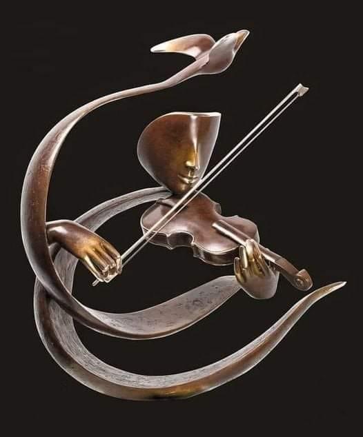 musician sculpture violin by etienne pirot!
