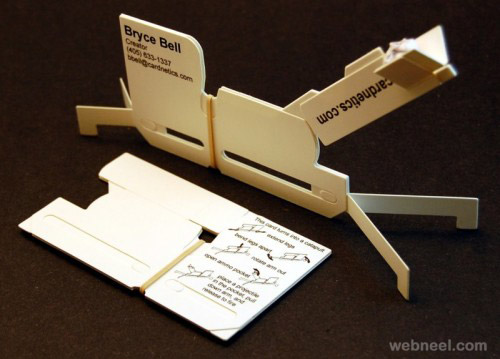unusual business card