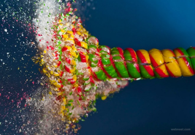 candy high speed photography
