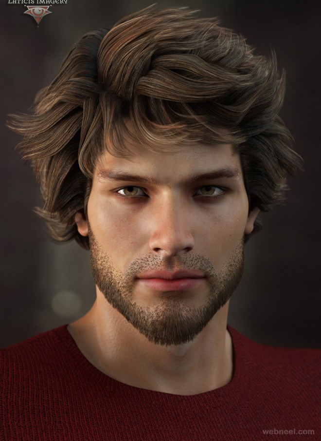 3d man character model