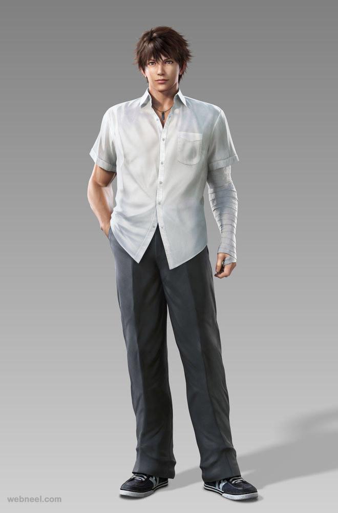 3d man character design