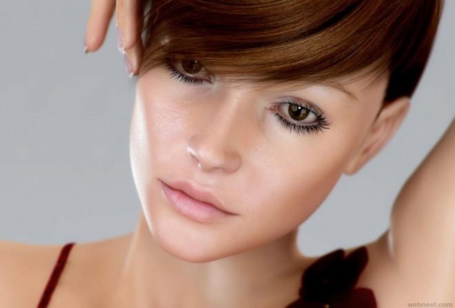 3d girl model wallpaper by qoolman