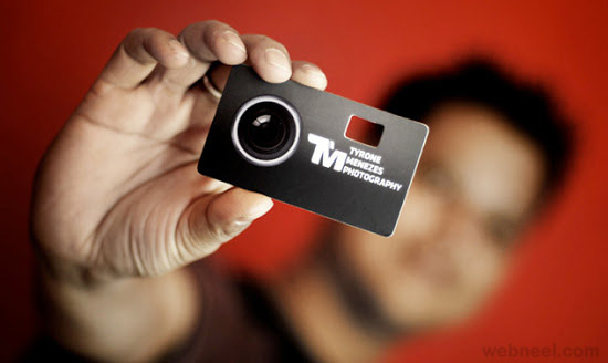 unusual photography business card