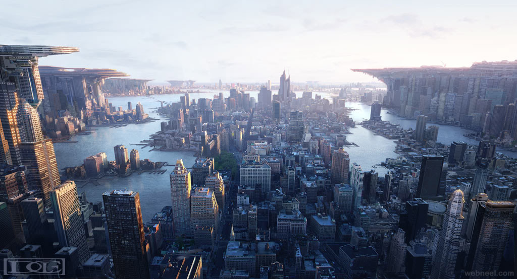 city matte painting by dylancole