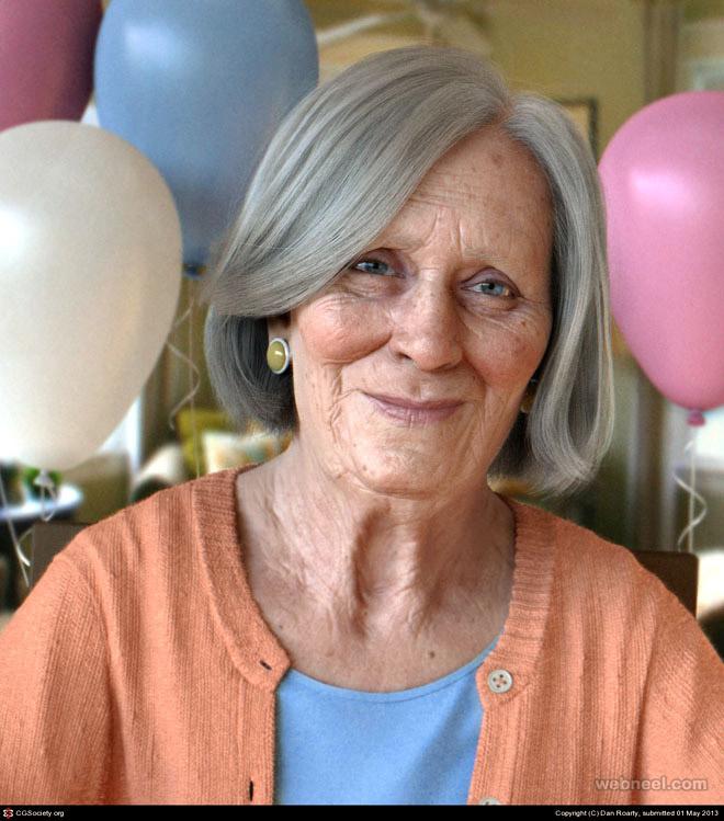 3d old lady by dan roarty