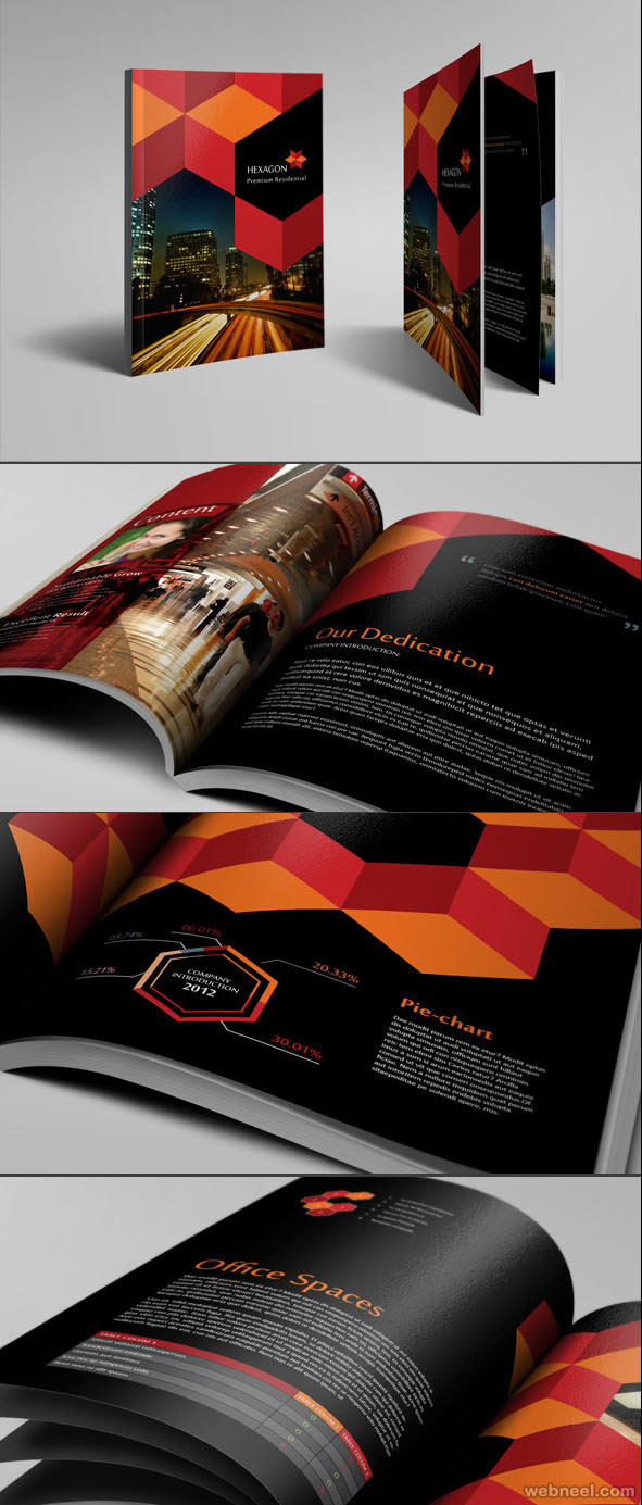 hexagon beautiful brochure design