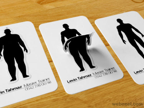 weight loss unusual business card