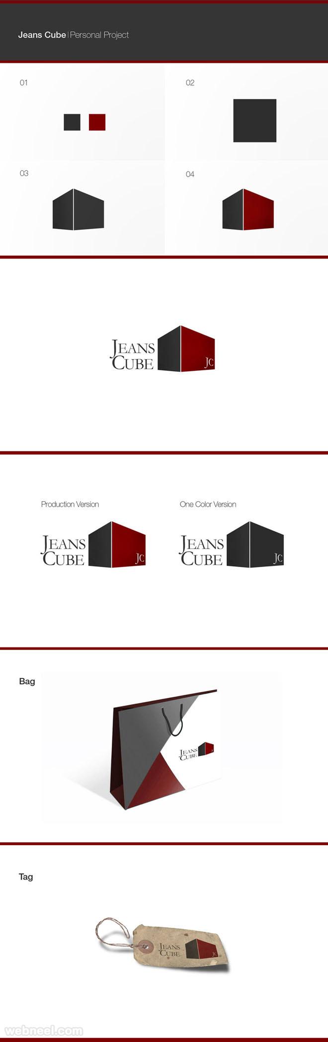 jeans cube branding identity design
