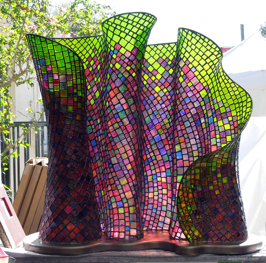 glass sculpture outdoor