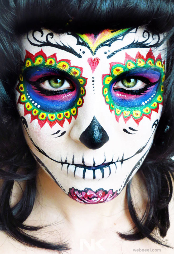 skeleton face paint