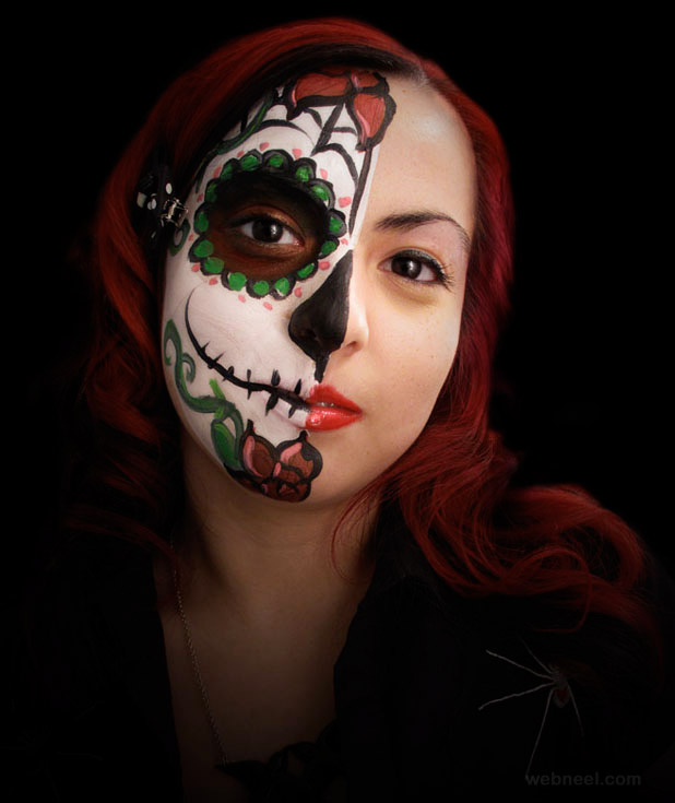skeleton face painting