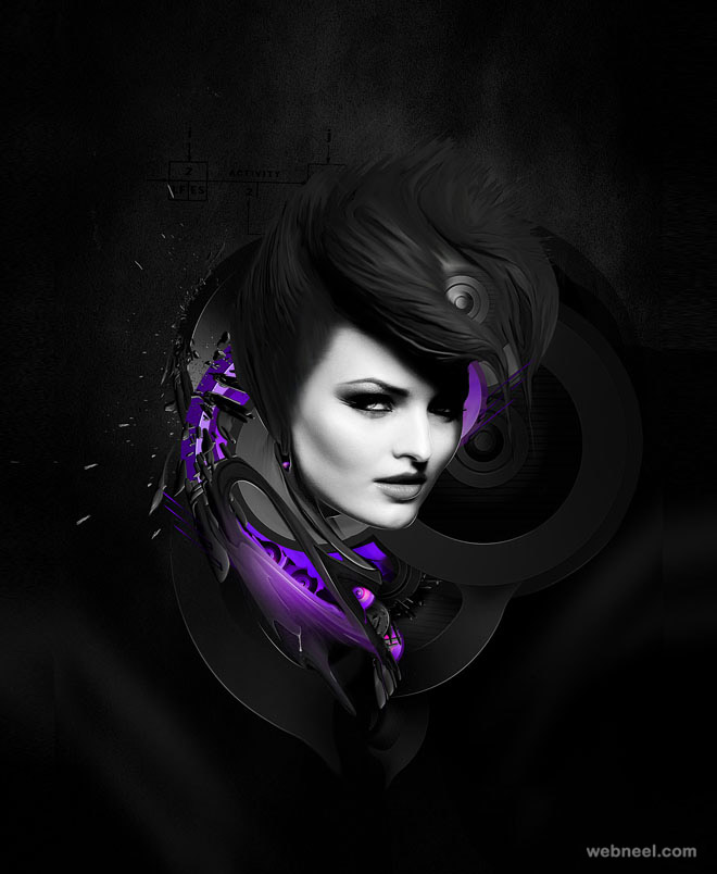 photo manipulation woman