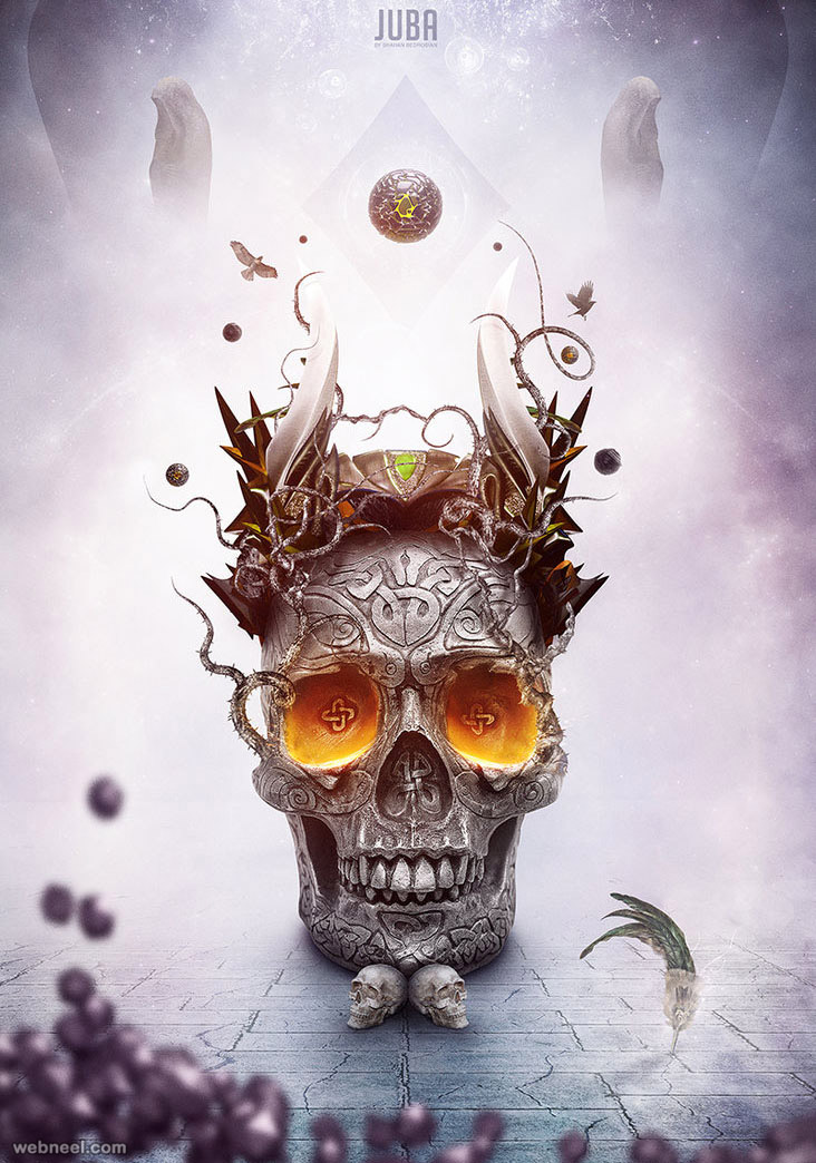 skull photo manipulation by juba