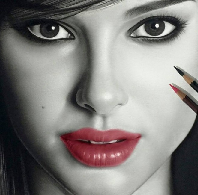 realistic woman drawing by aymanarts