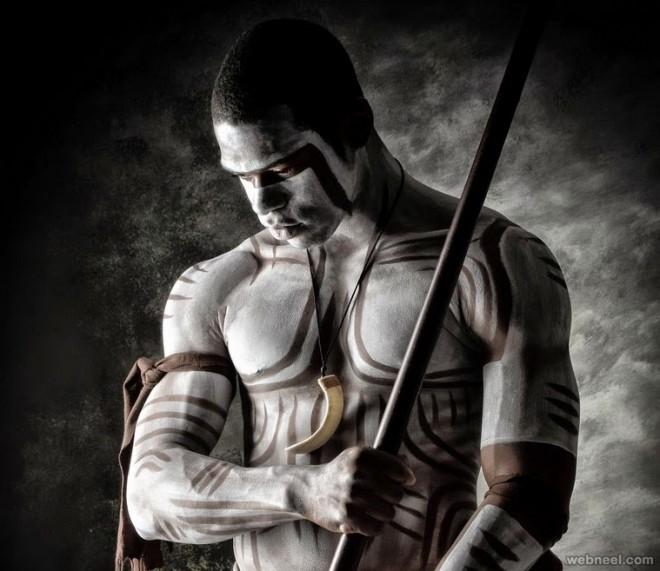 tribal body painting art