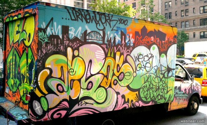 graffiti truck art by into space