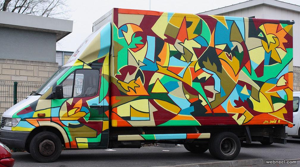 dragon style truck art