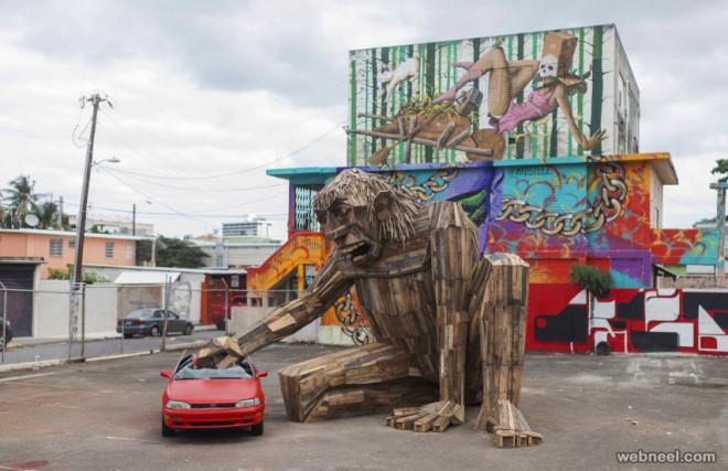 street art installation by thomas dambo