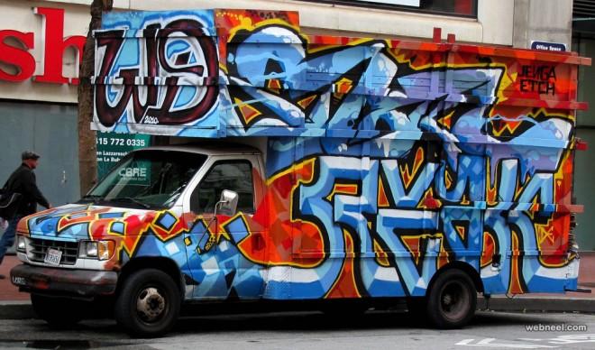 graffiti truck art by demetrios lyras