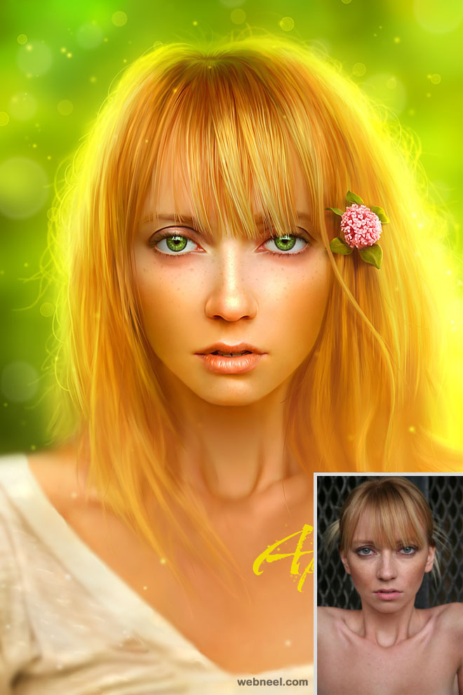 fantasy face retouching by michael oswald