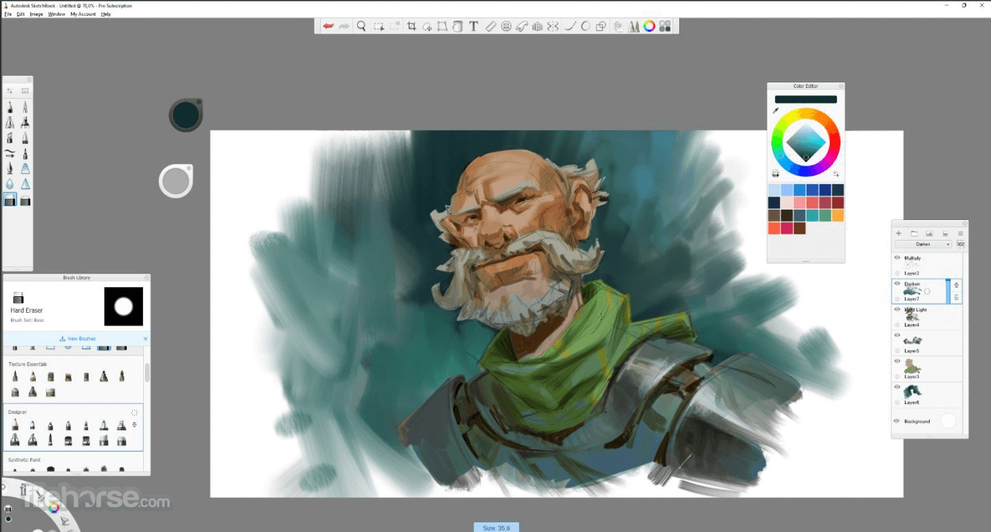 Autodesk Sketchbook Digital Painting Software Available For Free Download