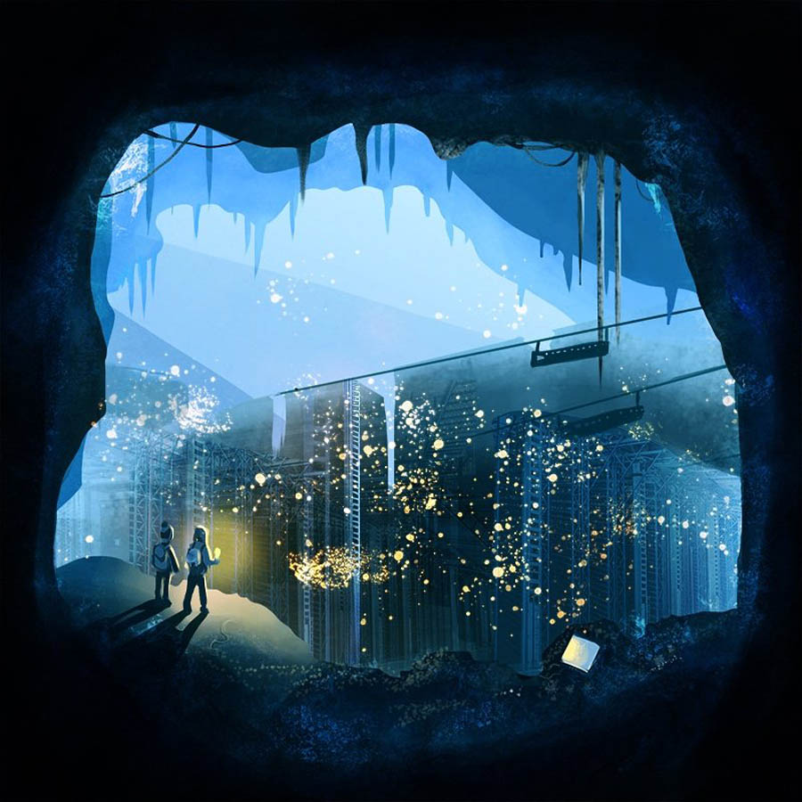 artic cavern procreate digital illustration app by yefimia