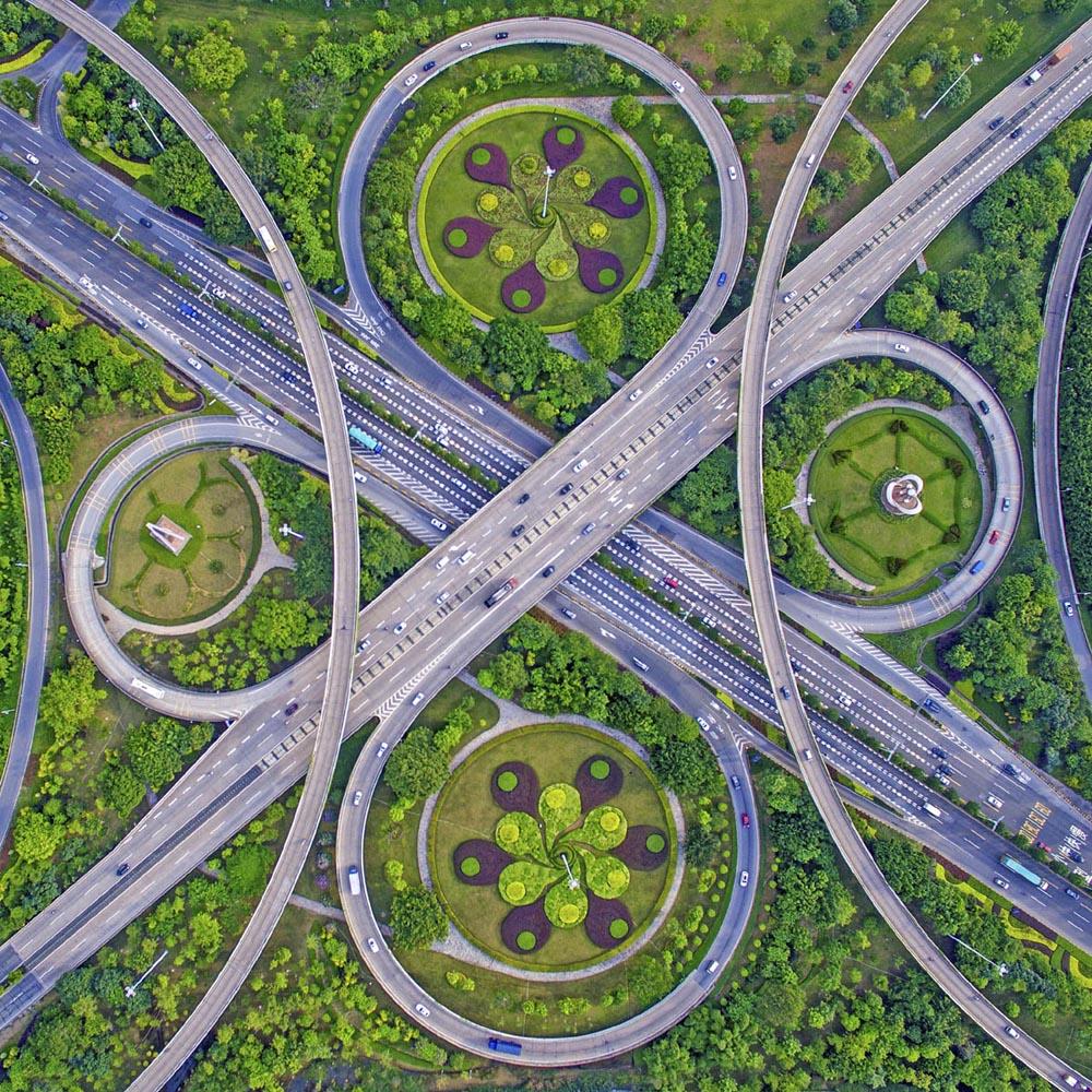 cross bridge waltz environment photography by guo ji hua