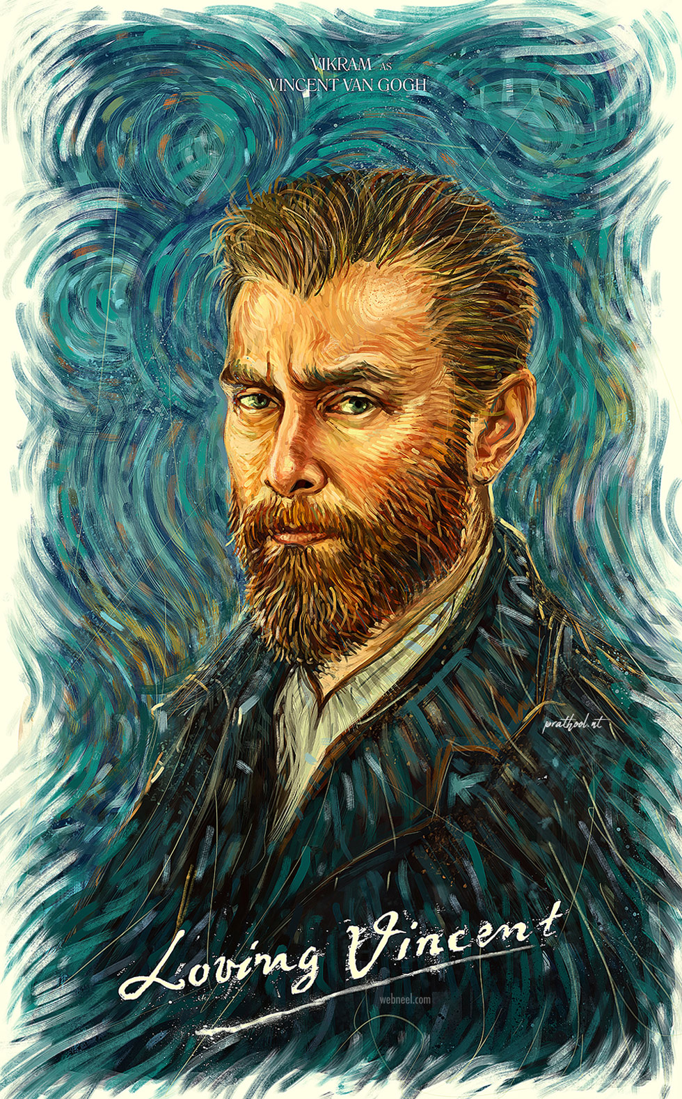 digital painting vikram as van gogh by prathoolnt
