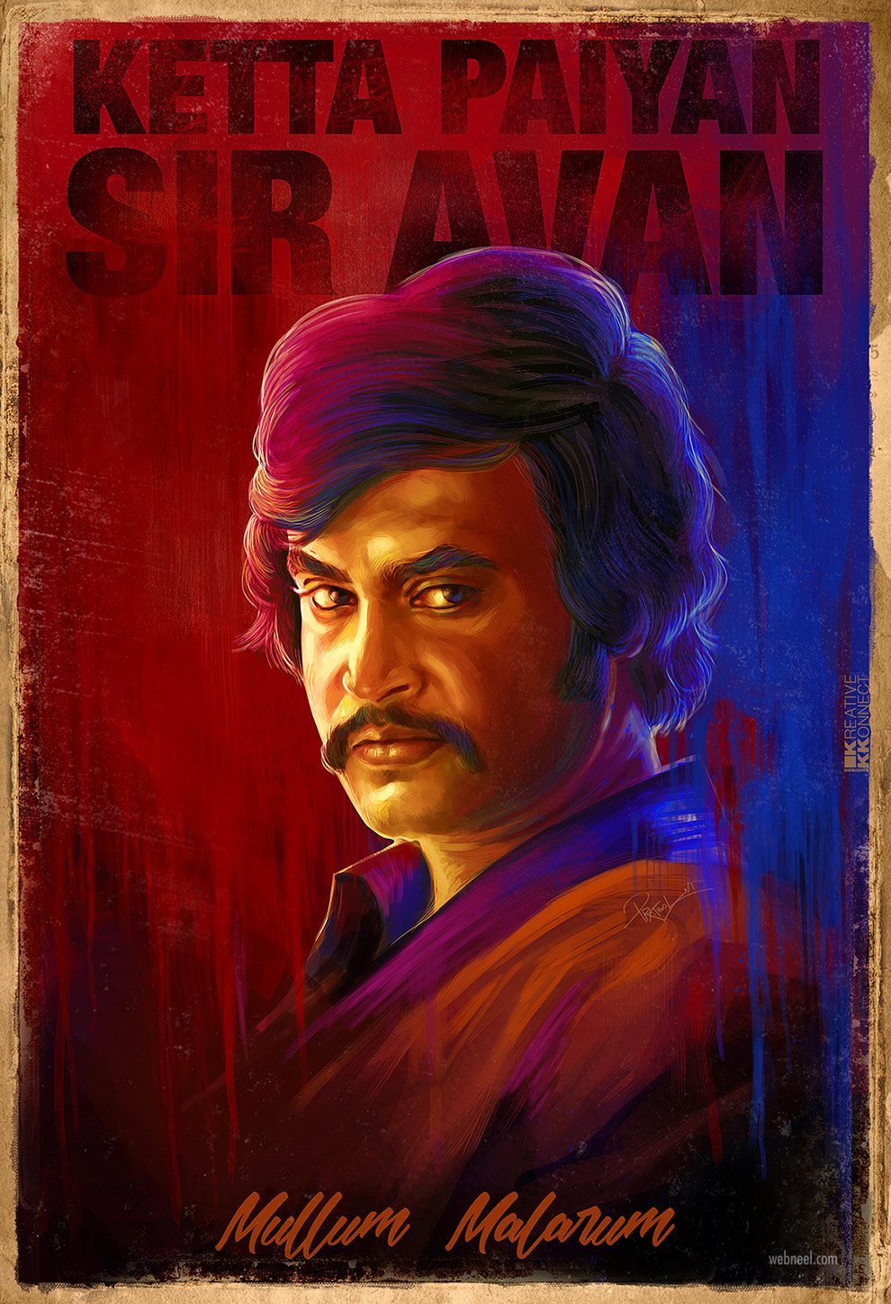 digital art rajinikanth tamil actor