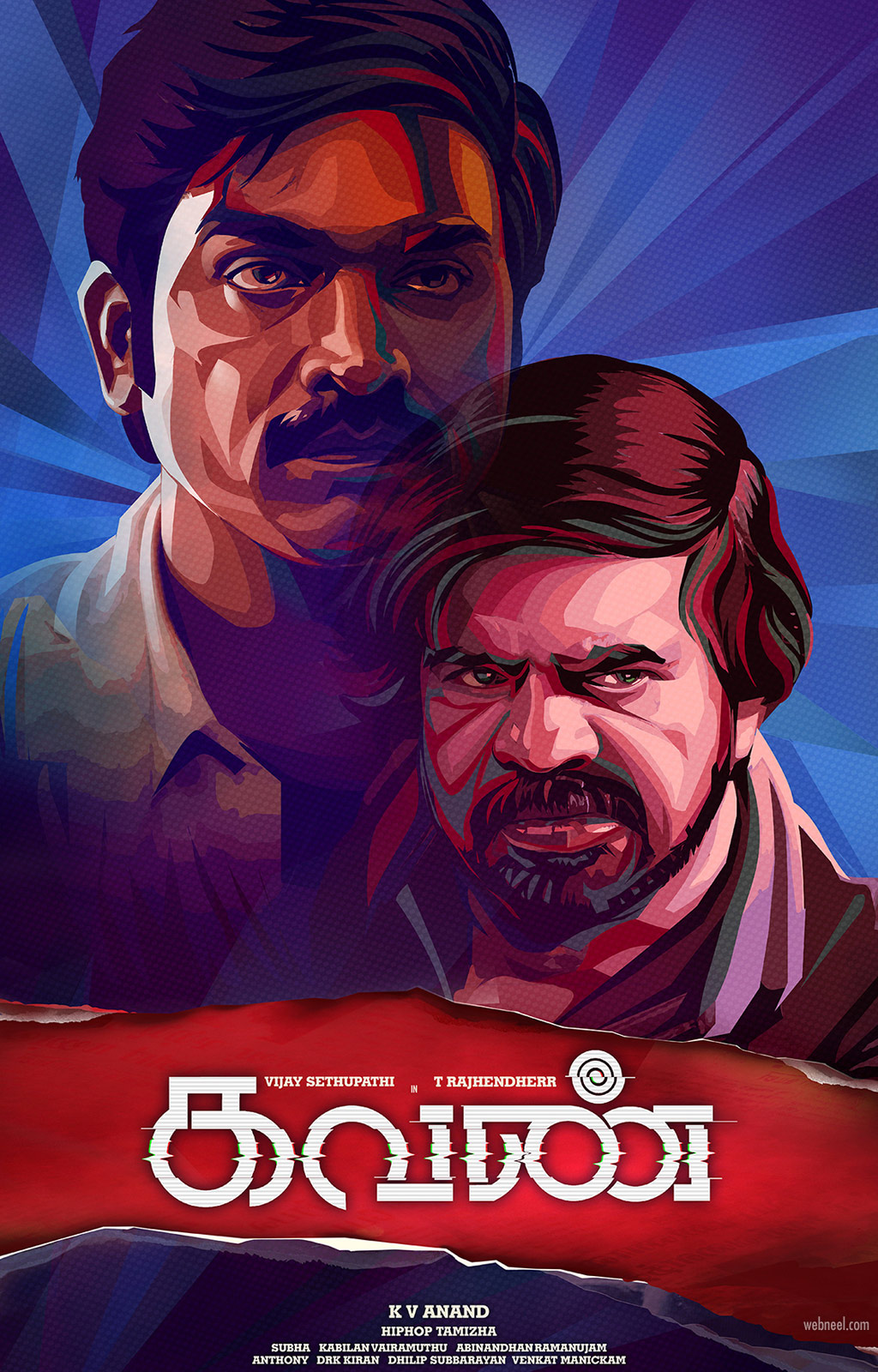 digital painting kavan vijay sethupathi rajender tamil actor by prathoolnt