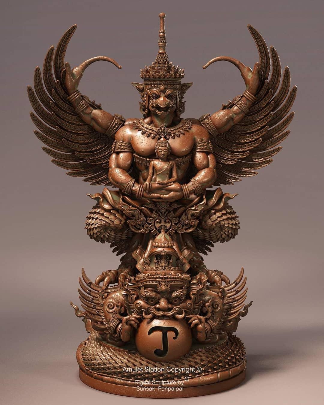 3d model buddha sculputre by midhun surisak