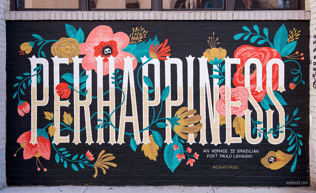 illustration street art typography by cyla costa