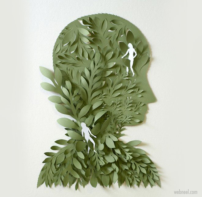 paper art sculpture by elsa mora