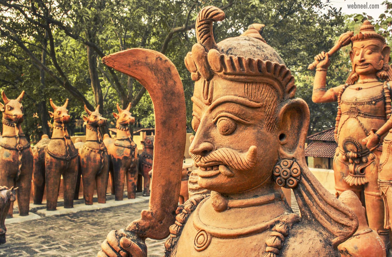 terracotta sculpture god tamilnadu karuppu swamy