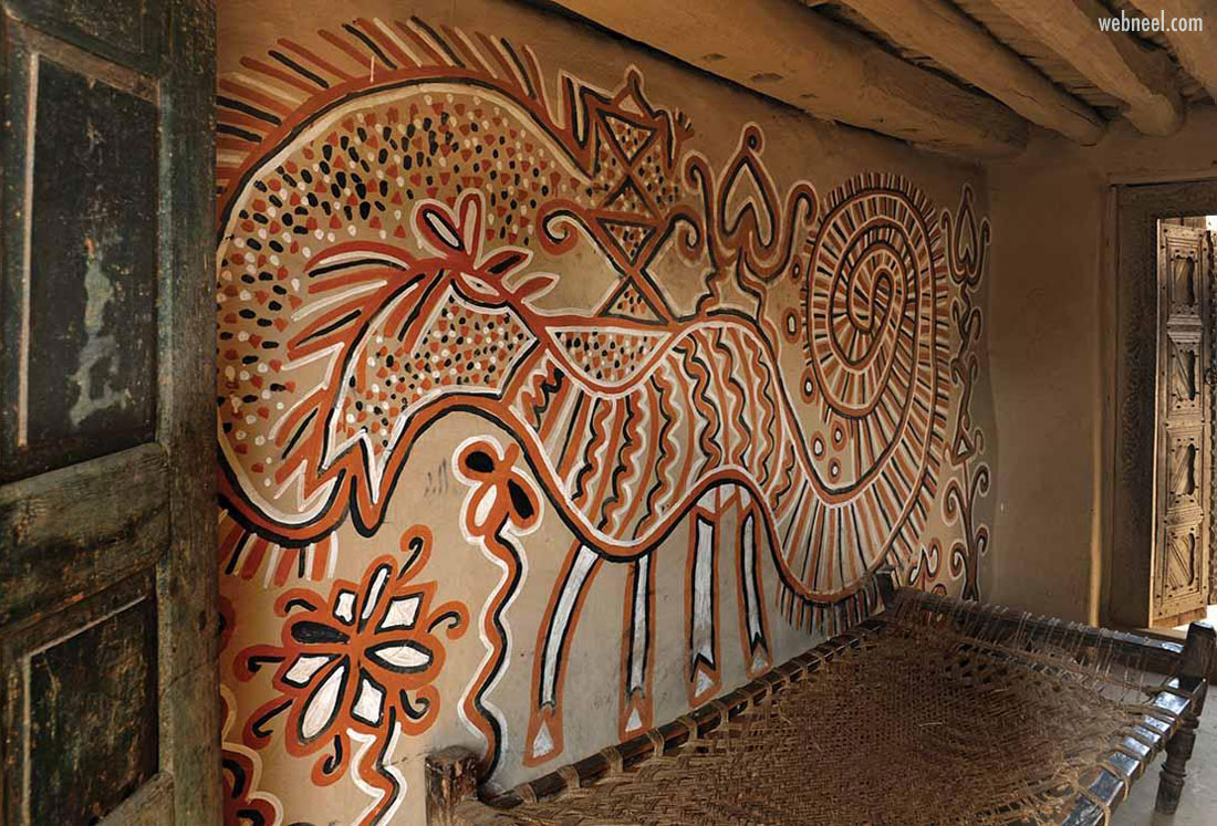 sohrai kohvar painting walls tribal art jharkhand