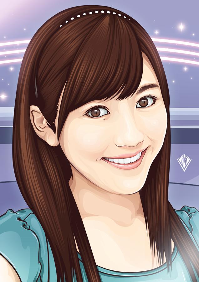 vexel art portrait vector illustration smile lady