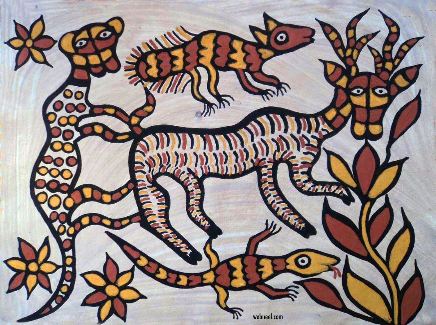 sohrai painting at hazaribagh tribal art jharkhand